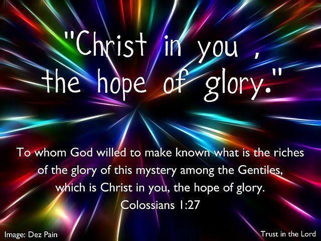 Image result for christ in us hope of glory